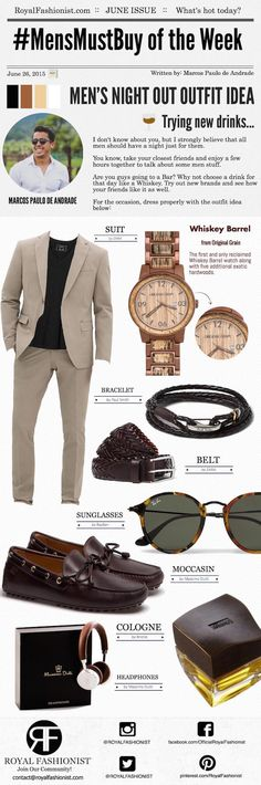 Men's Night Out Outfit Ideas - Whiskey Barrel Watch Review | Royal Fashionist