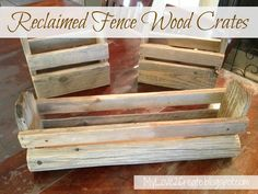 Reclaimed Fence Wood Crates