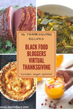 A collection of 36 classic Thanksgiving recipes ranging from breads to turkey to ham to pies, cakes, puddings, side dishes, and beverages--all from black food bloggers around the country including vegan, paleo, vegetarian, and gluten-free options! Roundup by Dash of Jazz via @dashofjazzblog