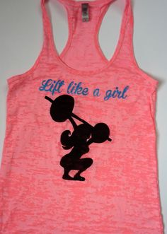 b33d4c466 Lift Like a Girl Tank Top Women's Ladies CrossFit by FransClosetRX Workout  Gear, Wod Gear