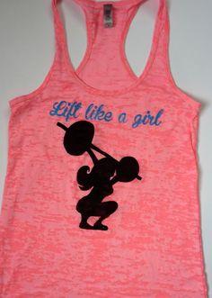 Lift Like a Girl Tank Top Women's Ladies CrossFit by FransClosetRX