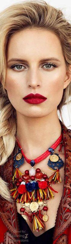 Karolina Kurkova and the power of a red pout
