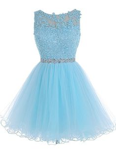 Simple Prom Dresses, tulle homecoming dress lace homecoming dress blue homecoming dress fitted homecoming dress short prom dress homecoming gowns cute sweet 16 dress for teens LBri Blue Homecoming Dresses, Prom Dresses Blue, Dance Dresses, Sexy Dresses, Prom Gowns, Quinceanera Dresses, Dresses 2016, Graduation Dresses, Ball Gowns