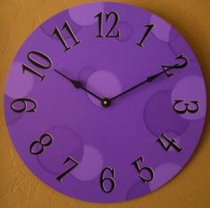Big purple clock