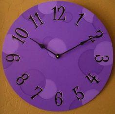 Big purple clock