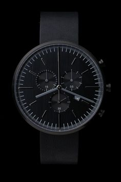 300 Series (PVD Black / Black Leather) | #UniformWares #Watches