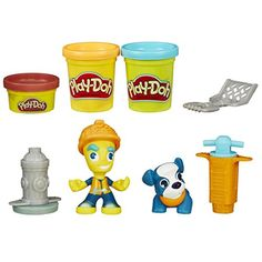Play-Doh Town Road Worker and Pup Clay