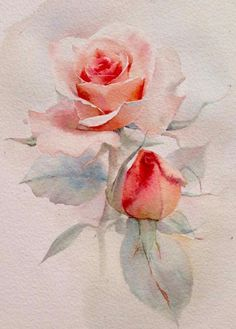 What is Your Painting Style? How do you find your own painting style? What is your painting style? Watercolor Rose, Watercolor Cards, Watercolour Painting, Painting & Drawing, Watercolors, Watercolor Flower Background, Peony Painting, Watercolor Video, Watercolor Artists