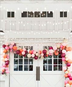 no need for extravagant party decor, just stick to a color palate, and buy 20 times more balloons than you think you'll need. Grad Party Decorations, Wedding Venue Decorations, Balloon Decorations, Balloon Ideas, Wedding Venues, Balloon Arch, Balloon Garland, Balloon Columns, Trendy Wedding