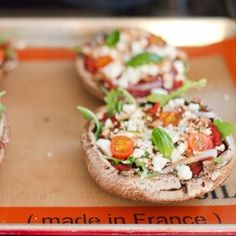 These arugula and goat cheese portobello mushroom pizzas sound delicious! We have frozen pizza at least once a week, can't wait to try these