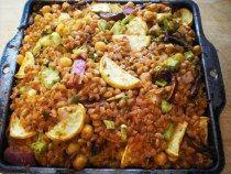 Farro curry casserole