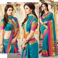 new brand silk sarees ethnic indian designer bollywood punjabi asian sari blouse #Shoppingover #Saree