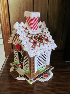 Christmas Gingerbread House in Plastic Canvas by HeSewMadeThat