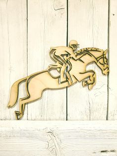 Equestrian Rider Show Horse Jumping - laser wood cut sign wall decor unfinished gift wreath horseback riding Laser Cut Wood, Laser Cutting, White Paneling, Horseback Riding, Wall Signs, Equestrian, Vinyl Decals, Aurora Sleeping Beauty, Just For You
