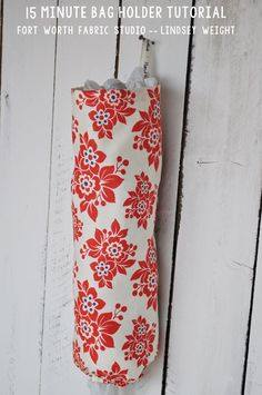 Fort Worth Fabric Studio: 15 Minute Grocery Bag Holder