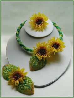EVERYTHING FROM BEADS: Sunflowers Set
