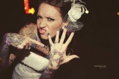 I've been into photos of tattooed brides lately. Namely because my boyfriend and I have been talking about getting married.