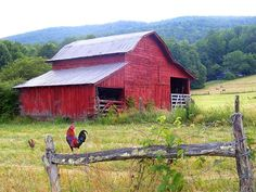 Red Barn along the Asheville Highway North Carolina-Photography on Canvas