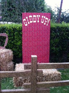 Country Western photo booth - giddy up!