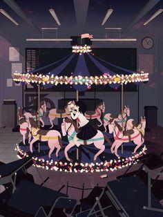 [pixiv] Nostalgic Merry-Go-Rounds - pixiv Spotlight