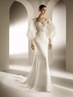 Wedding Robe, Wedding Gowns, Pronovias Wedding Dress, Pronovias Dresses, Princess Wedding Dresses, Mermaid Dresses, Bridal Dresses, Mermaid Gown, Wedding Dress Necklines
