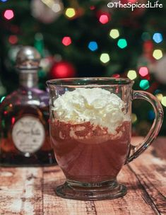 A Mexican inspired hot chocolate laced with tequila and a pinch of chipotle powder kicks the holiday season up a notch! #Sponsored