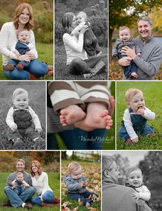 Compilation of autumn family session for mom, dad & 6 month old baby boy | Wendy Mitchell Photography