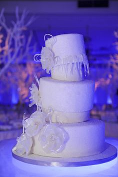 An incredible white cake from a fire & ice themed Bat Mitzvah {Photo by Lasting Memories Photography} Bat Mitzvah Party, Bar Mitzvah, Winter Wonderland Theme, New York Winter, Ice Cake, Beautiful Wedding Cakes, Fire And Ice, Party Cakes, Memories Photography