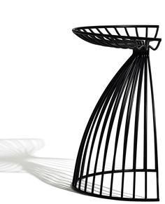 Powder coated steel stool ANGEL by addinterior | #design Gry Holmskov