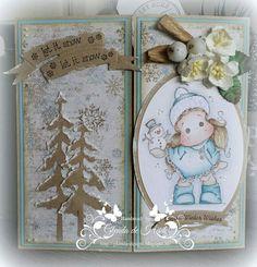 Kerstkaart / Christmas card Magnolia / Noor Design /  Marianne Design
