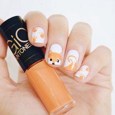 Nail art fox cute