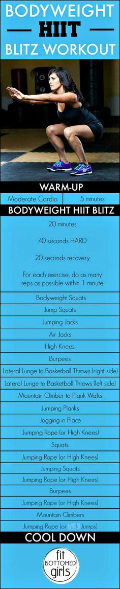 Ready for an awesome workout using only your body weight? You've got to try this HIIT workout!
