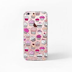 iPhone 6 Case Cupcakes iPhone 6s Case Clear iPhone 6 Case Food iPhone 6S 6 Rose Gold Case iPhone 6 Donut iPhone 6s Case Transparent…
