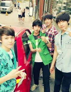 seventeen- Hansol, Mingkyu, Seungcheol, and Wonwoo