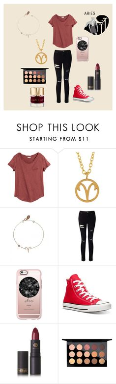 """""""Aries"""" by neshy270 on Polyvore featuring H&M, Kris Nations, Miss Selfridge, Casetify, Converse, Lipstick Queen, MAC Cosmetics and Smith & Cult"""