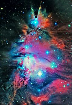 NGC 2264 is a young triangular-shaped open cluster of stars embedded in a star-forming cloud, located around 2600 light-years away in the north-eastern corner of the constellation of Monoceros (the Unicorn). [weareallstarstuff]