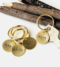 Custom Stamped Brass Key Ring