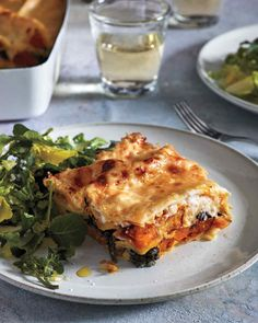 You can roast the squash and prepare the bechamel and filling (omitting the egg) up to two days before assembling the lasagna; let each cool before refrigerating in separate containers. Stir the egg into the filling just before using.