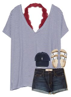 """""""What are yall's plans for the fourth?"""" by southerngirl03 ❤ liked on Polyvore featuring Zara, Hollister Co., Birkenstock and Polo Ralph Lauren"""