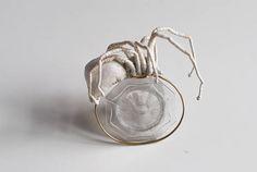 white spider bracelet fiberart soft sculpture Soft Sculpture, Needle Felting, Spider, Etsy, Vintage, Bracelets, Craft Gifts, Schmuck, Spiders