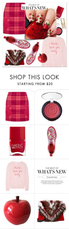 """Pink+ Plaid Apple Picking"" by groove-muffin ❤ liked on Polyvore featuring La Perla, Laura Geller, Nails Inc., Sakroots, Lingua Franca, Elena Ghisellini and Dolce&Gabbana"