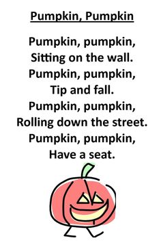 "Itty Bitty Rhyme: Pumpkin, Pumpkin - we use this one often for toddlers as a transition for story time, since it ends in ""Have a seat."" :)"
