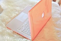 A computer cover in peach!