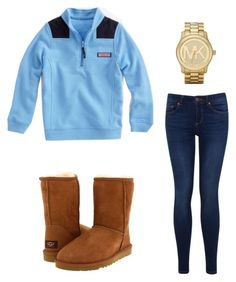 """Southern Prep"" by zoeantonpeat ❤ liked on Polyvore featuring Vineyard Vines, Miss Selfridge, Michael Kors, UGG Australia, preppy, Prep and southernprep"