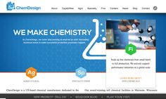 Stellar Blue is proud to announce the launch of ChemDesign's new website!   The website features a blog with a new progressive look that displays a blog's featured image, title and date that it was published. All blogs are then arranged to look like a photo gallery for a clean, appealing look.   Check it out!