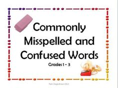 Sometimes a word wall is not enough! These posters pay special attention to commonly misspelled and confused words. Using the handout master option...