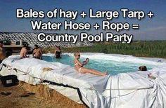 Redneck pool party lol
