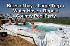 Redneck pool party lol