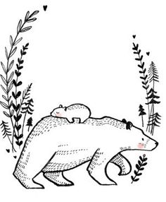 Polar Bear Drawing, Polar Bear Tattoo, Watercolor Animals, Watercolor Pencil Art, Poster Black And White, Bear Sketch, Lino Art, Cute Bear Drawings, Illustration Art