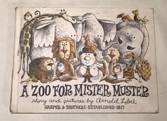 Uno Zoo per Mister Muster, Arnold Lobel, 1962 di BookKeeperShop su Etsy https://www.etsy.com/it/listing/528191621/uno-zoo-per-mister-muster-arnold-lobel